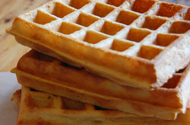 The best traditional Brussels Waffle in Cape Town made by The Wicked Waffle