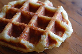 The best traditional Sugar Waffle in Cape Town made by The Wicked Waffle